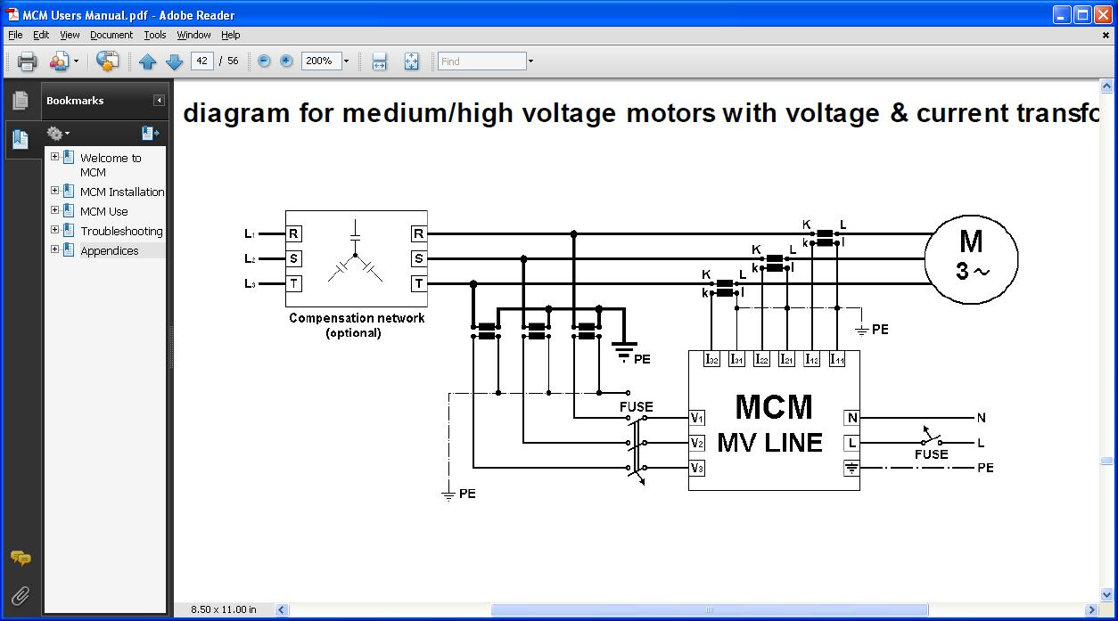 Connection diagram CT+ Med high voltage line industrial ekg dd15 mcm wiring diagram at gsmx.co