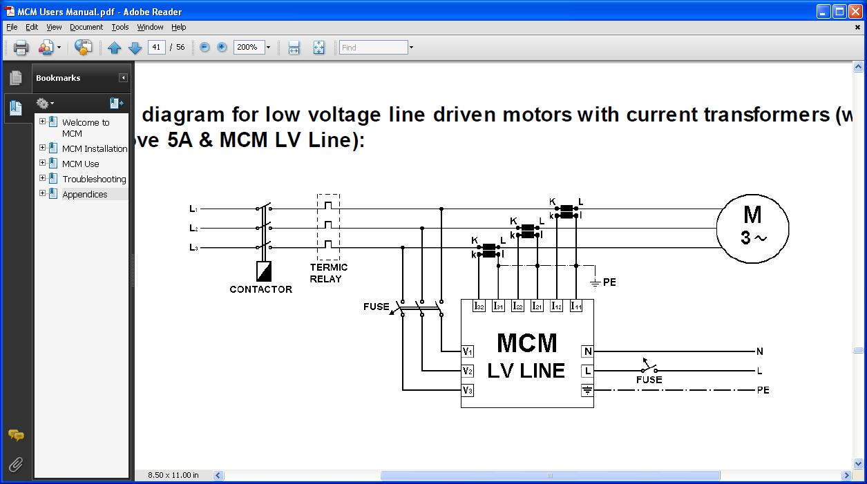 Connection diagram CT+ low voltage line industrial ekg dd15 mcm wiring diagram at gsmx.co